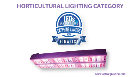 Active Grow SG300 Horticulture Luminaire selected as finalist for the LEDs Magazine 2018 Sapphire Awards