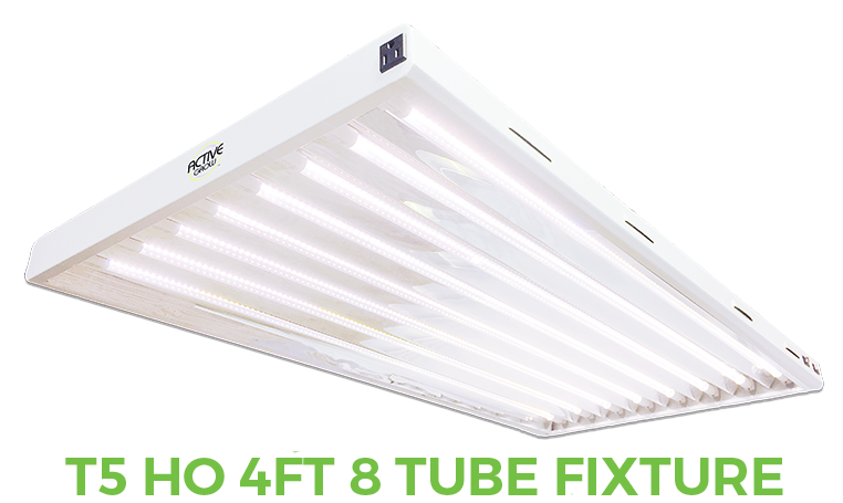 T5 HO 4FT 8 Tube Grow Light Fixture