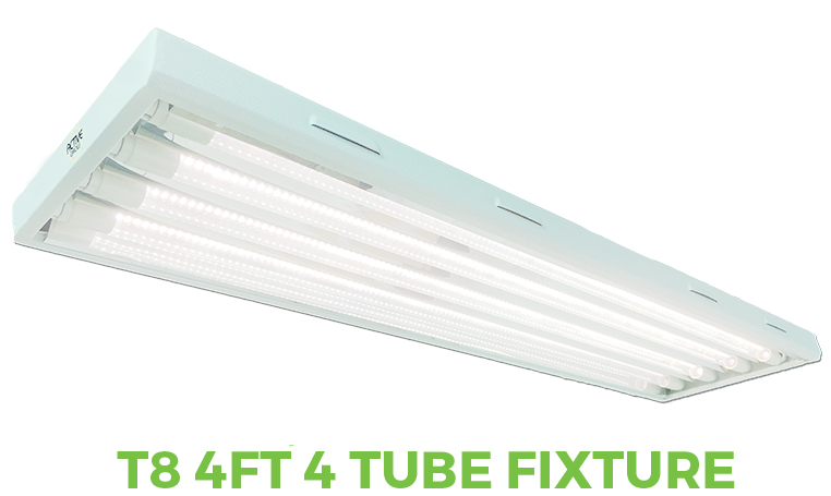 T8 4FT 4 Tube Grow Light Fixture
